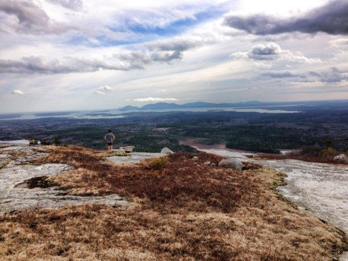 Mount Desert Island from Schoodic Mountain. Photo by Charlotte Clews.