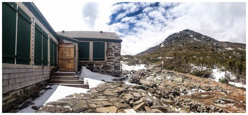 Madison Hut and Mt. Adams. 3 May 2014