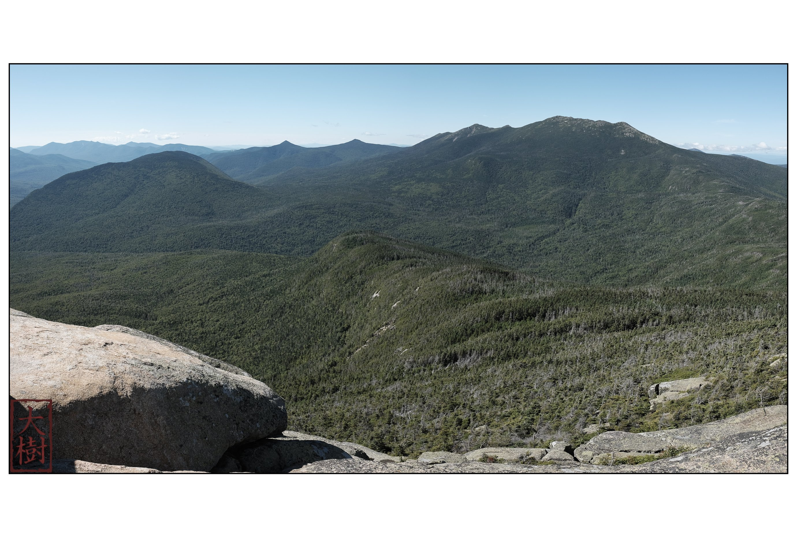 View of Owl's Head and the Franconia Range from the summit of Mt. Garfield.